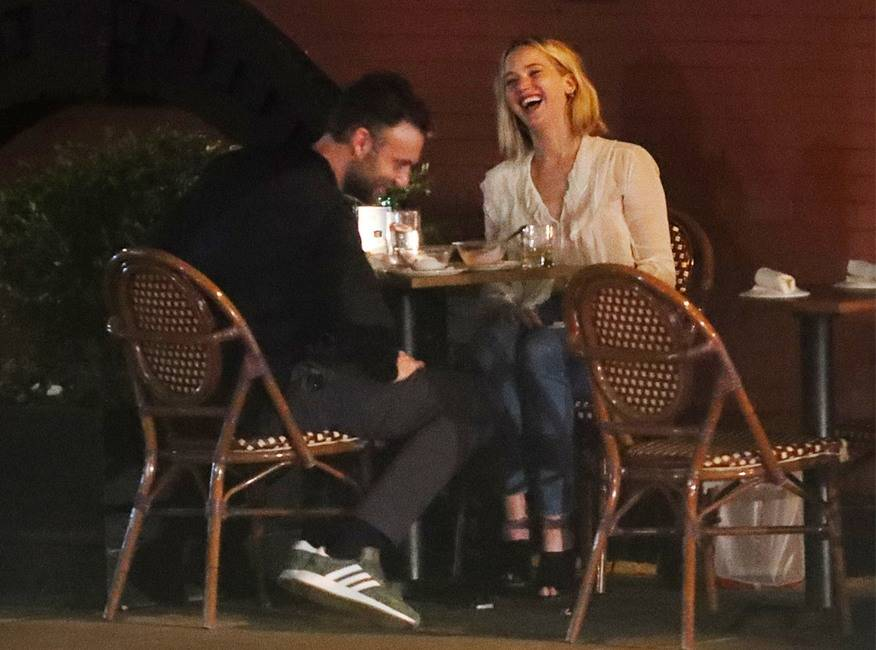 Jennifer Lawrence & Cooke Maroney Candle Light Dinner