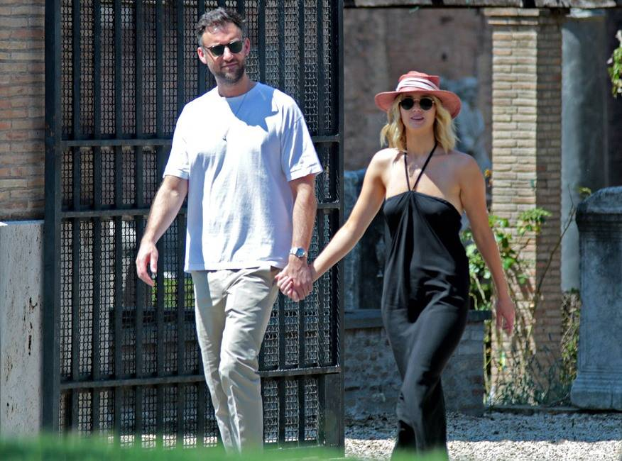 Jennifer Lawrence & Cooke Maroney In Rome