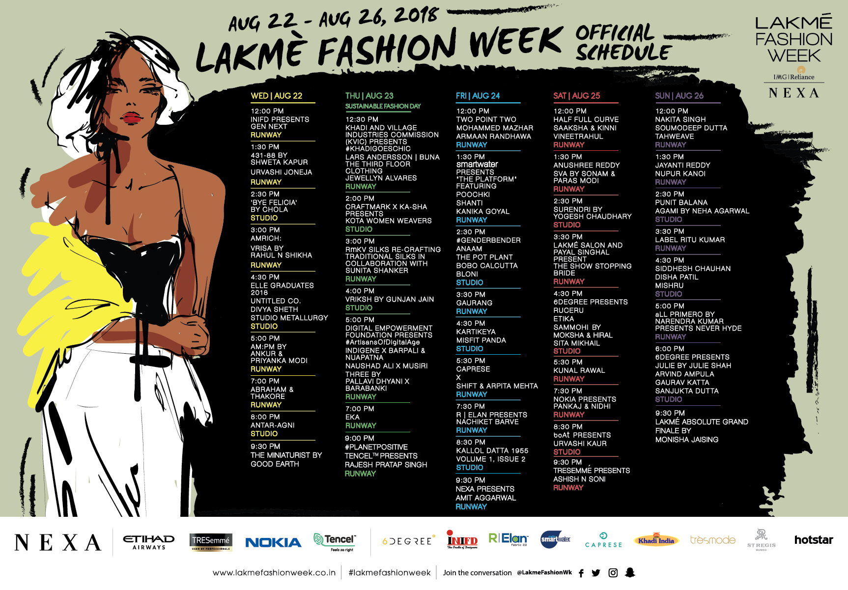 Lakme Fashion Week 2018 Schedule