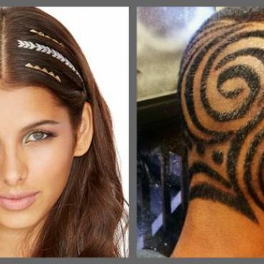 hair tattoo designs for men | The Brunette Diaries