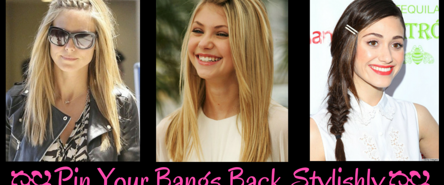 8 easy and stylish ways to pin your bangs back | the