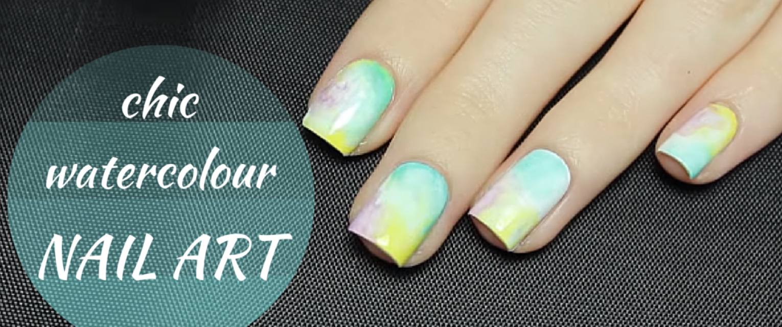 Show Your Nails Some Love With Watercolour Nail Art | The Brunette ...