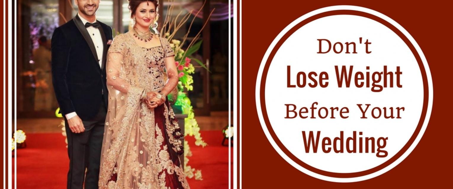 best way to lose weight before wedding