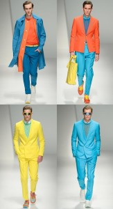 Colored outfits for men