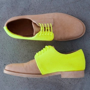 neon colored shoes