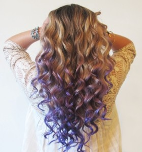 Mermaid curls look extremely casual and sexy