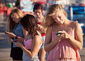 Smart phone addiction is normal among teenagers