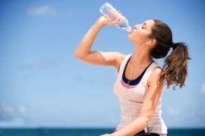 Get into the habit of having enough water
