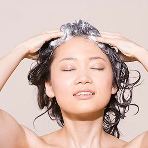 Massaging shampoo into your scalp promotes hair growth