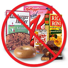 Say no to processed foods on Sunday