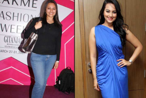 Sonakshi Sinha - before and after weight loss