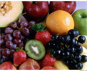 Fruits are a healthy option that oily and fatty foods