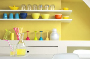 Colourful kitchens look so inviting