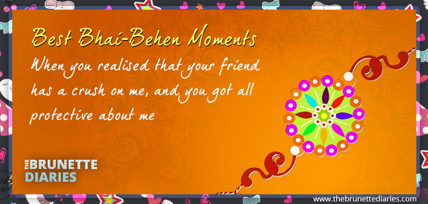 Awesome brother sister Raksha Bandhan quote