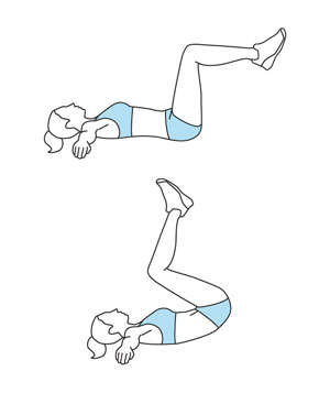 Demonstration of the reverse crunches (Img source - realsimple.com)