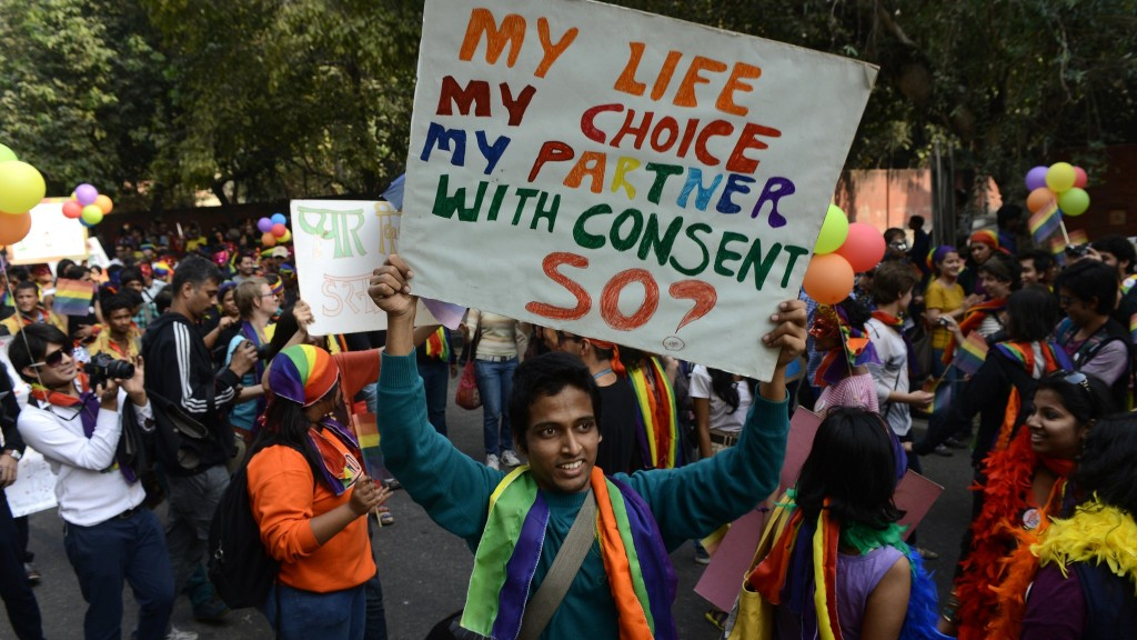 Why does a homosexual in India not get his right to choose his life partner
