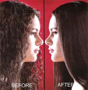 Hair rebonding is a permanent solution for curly unmanageable hair (Source: clickbd.com)