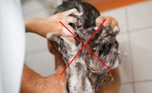 Be as gentle as possible while shampooing your hair
