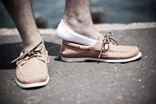 Who said cheating isn't allowed? Wear the no-show socks in your loafers or moccasins and make a statement
