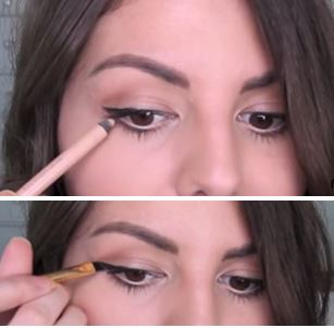 If you've messed up your winged liner, just apply some nude eyeliner and fix it!
