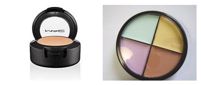 A concealer comes in skin shades, while a corrector, is tinted with colours from the spectrum