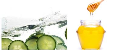 Cucumber and honey make for really good natural remedies for acne