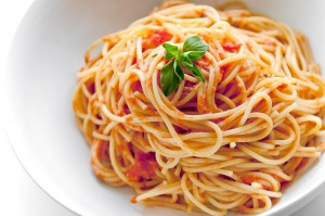 A steaming plate of spaghetti is a delicious way to end your day!