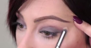 Step three: Highlight your brow bone with a neutral color eye-shadow