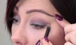 Step two: Proceed to accentuate your crease with the second eye shadow