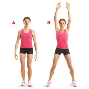 Jumping jacks are the best cardio stretches for a woman (Img source: womenshealthmag.com)
