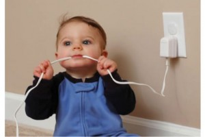 Never let your baby close to an electrical outlet