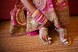 Choose a pair of shoes that's easy to slip in and out of, as you may need to remove them during ceremonies