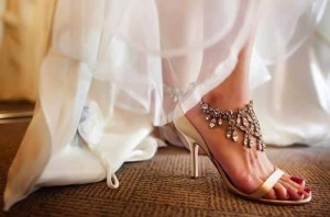 Bridal footwear is an important part of the wedding ensemble, special care must be taken while picking it