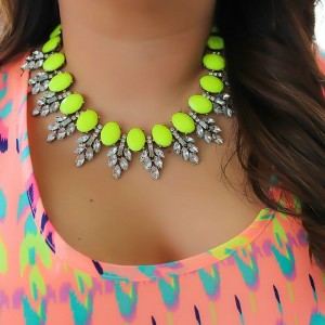 Bright statement necklace for the lovers of neon