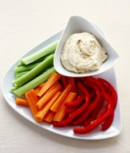 Raw veggies make for healthy snacks and also help fire up your metabolism