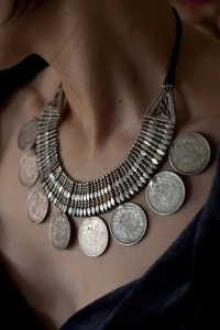A personal favorite: silver coin necklace from himachal pradesh India