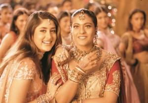 The first scene that pops up in my mind is the Karva Chauth scene of Karan Johar's Kabhi Khushi Kabhie Gham