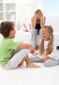 Stress in the family can be one of the reasons for sibling rivalry