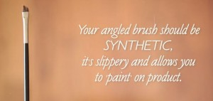 Angled brush can be used to pack on concealer and also to make the perfect winged eye liner