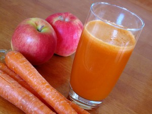 Carrot and apple juice is a great source of beta carotene for the body