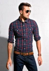 """A plaid shirt makes denims look formal"" - Anonymous. We agree!"