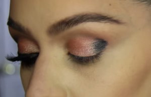 Apply the darkest shade of eye shadow on the outer corner of your eye