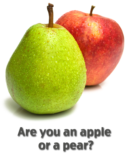 Are you and apple or a pear? Find out here!