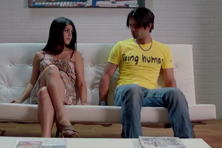 'Sukhi' Barun Sobti with Shenaz Treasury in the film 'Main Aur Mr. Riight'