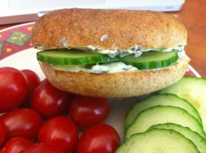 Pickled vegan sandwich; a breath of freshness - literally!