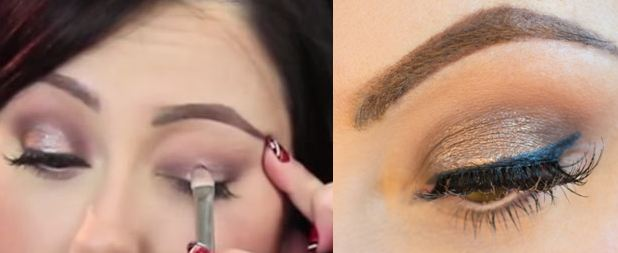Blend your smokey eye well using a nude shade of eye shadow