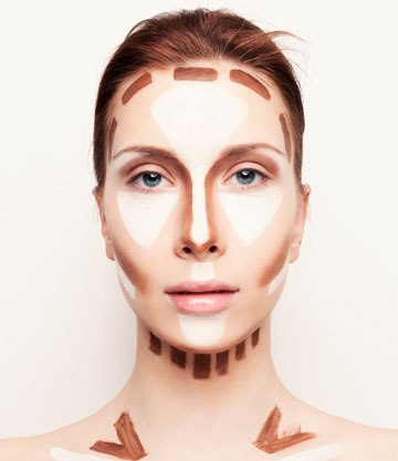 This will help you figure out where to highlight and where to contour