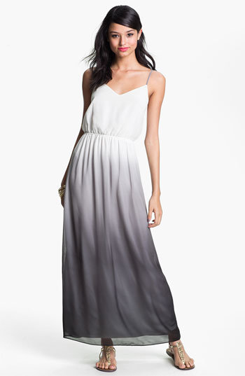 Flaunt your slender shoulders in a long Trapeze dress to balance out the pear shape
