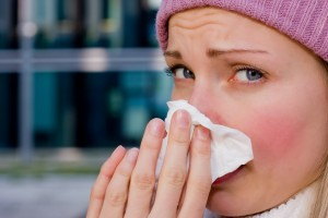 Common cold is quite common during flu. Tackle it with lots of hot fluids and rest