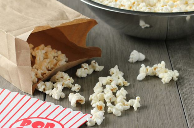 Microwave popcorn is the perfect solution for a movie on your home theatre